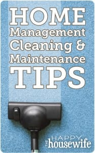 Home Management Tips The Happy Housewife Home Management