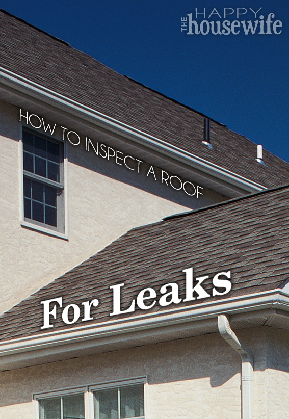 How to Inspect a Roof for Leaks | The Happy Housewife