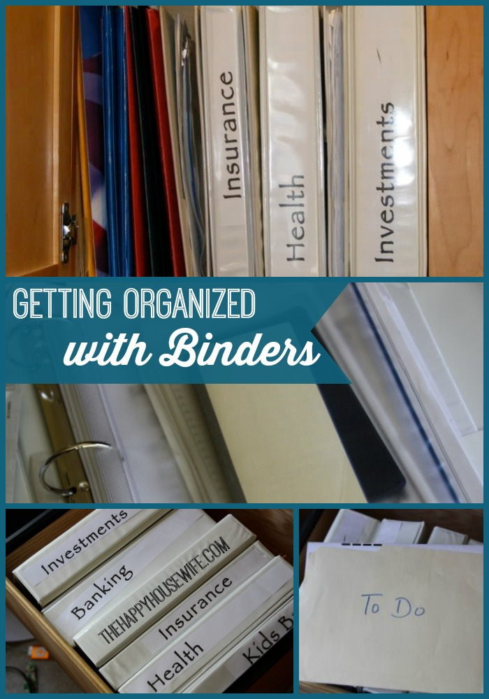 Organizing With Binders Clean Home Fresh Start The