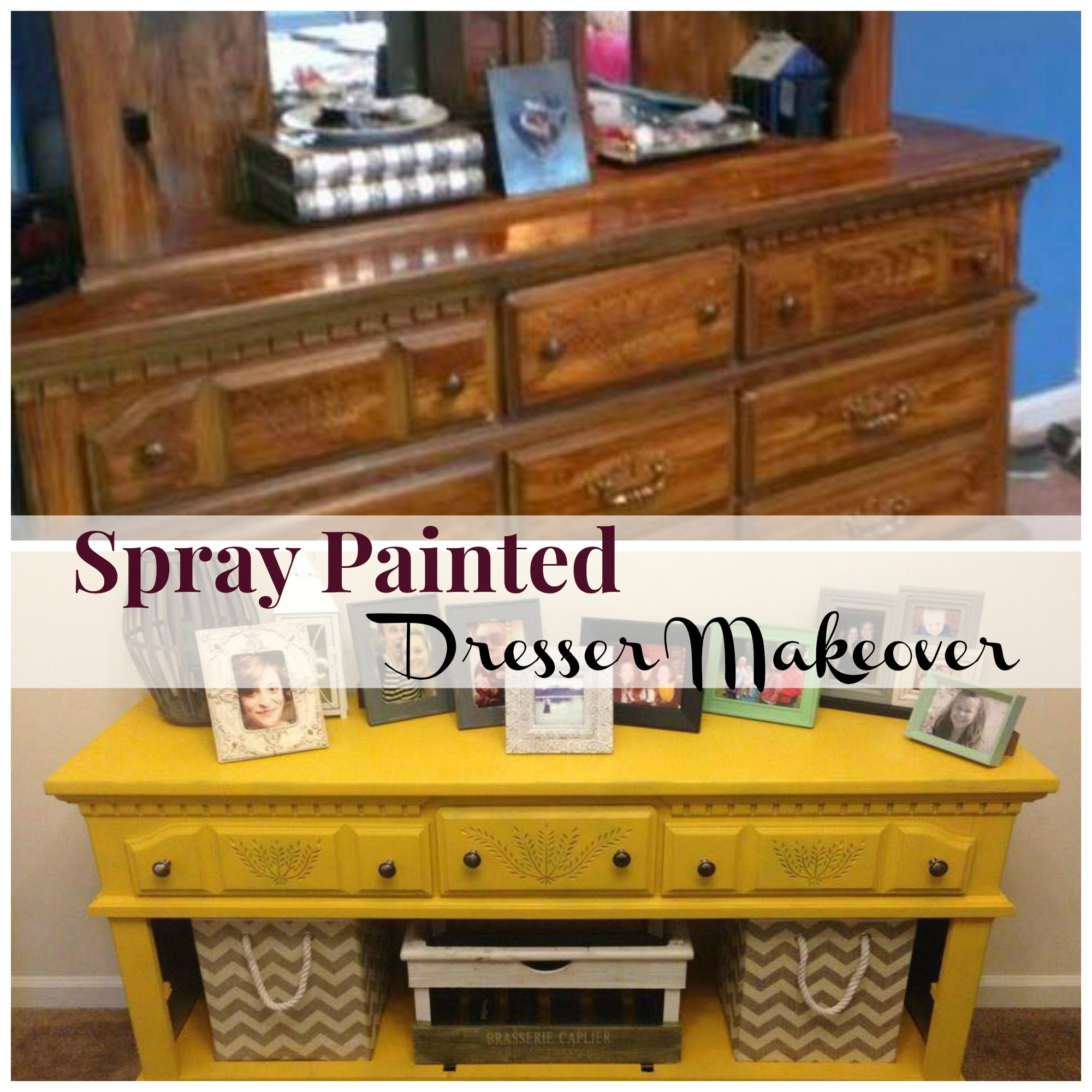 Spray Painted Dresser Makeover The Happy Housewife Home Management