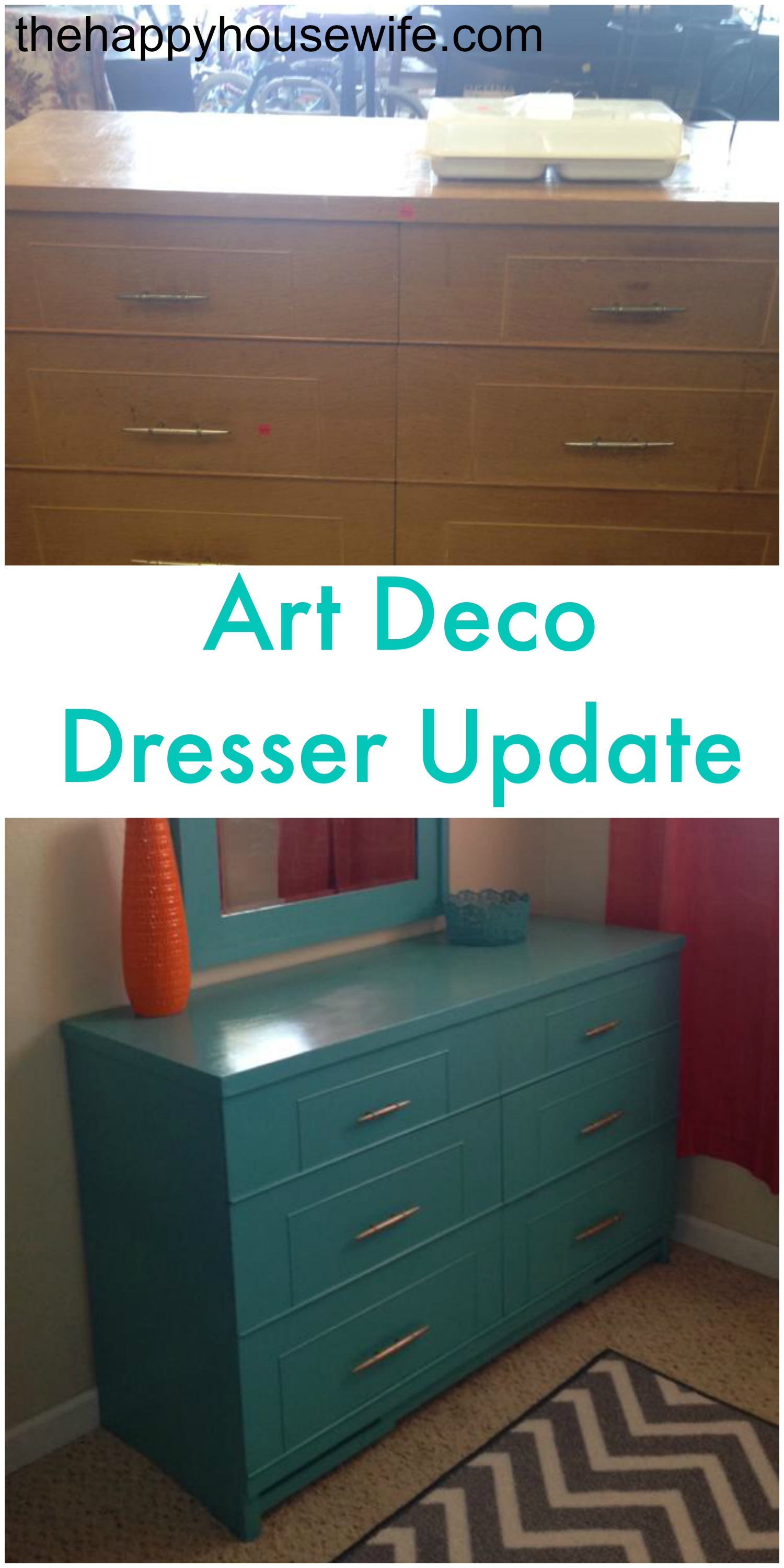 Updated Art Deco Dresser Diy