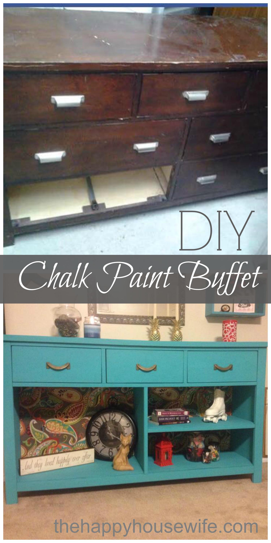 Chalk Paint A Bookshelf