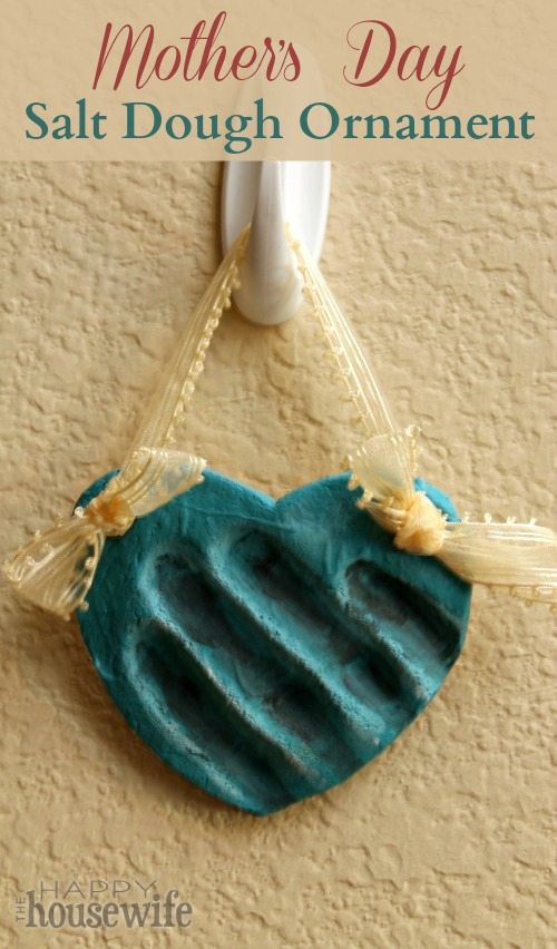 Mother's Day Salt Dough Ornaments at The Happy Housewife