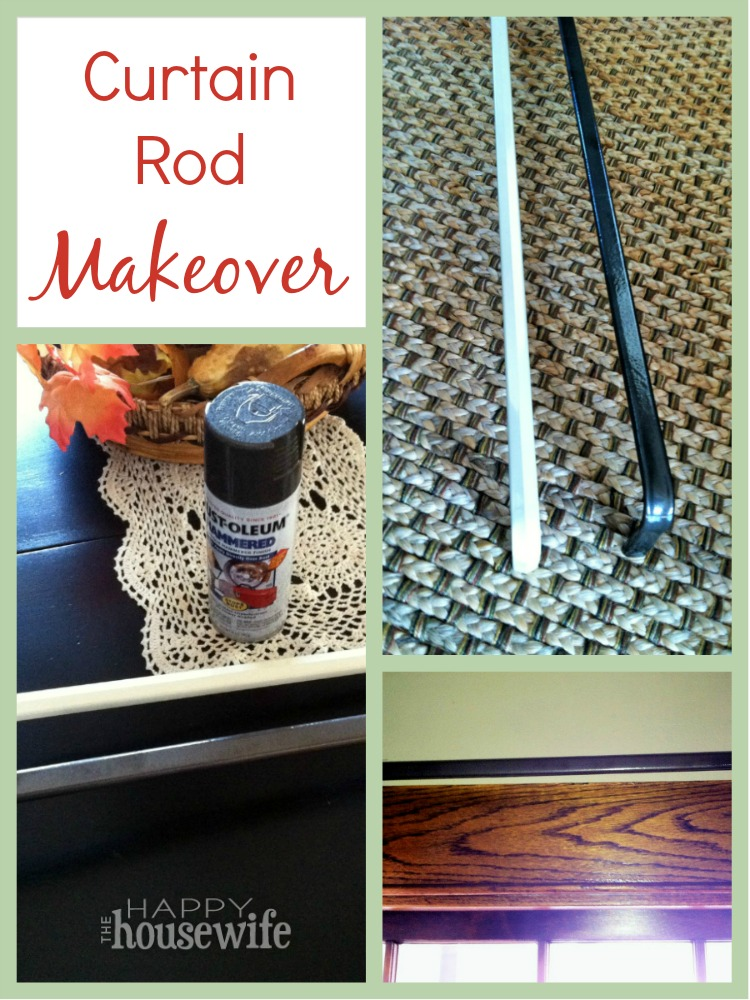 Diy Curtain Rod Makeover The Happy Housewife Home Management