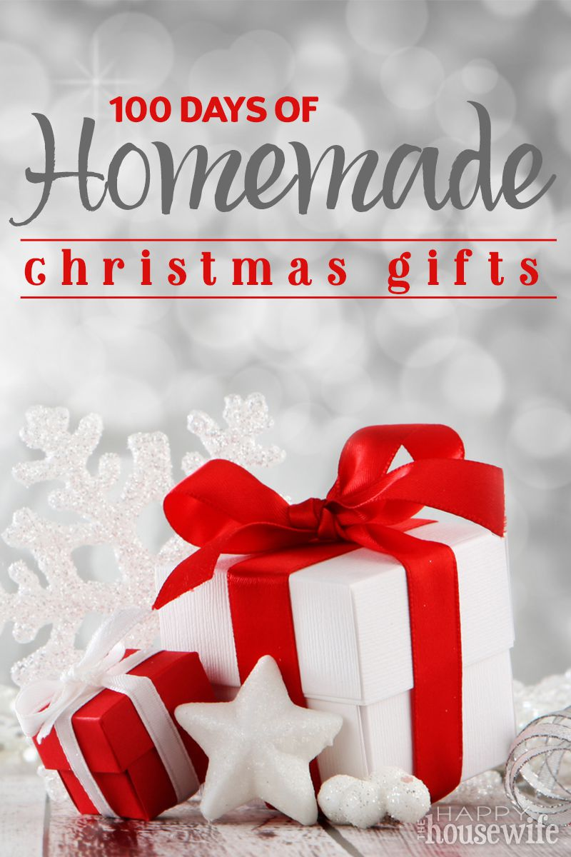 Day-to-Day Calendar: Homemade Christmas Gifts - The Happy Housewife ...