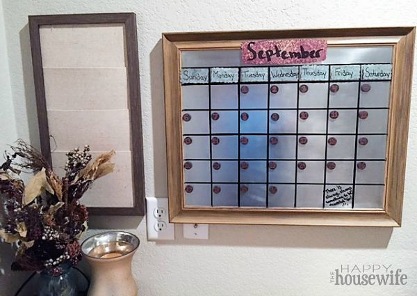 Diy magnetic dry erase calendar the happy housewife home this diy magnetic dry erase calendar allows you to color code with different dry erase markers solutioingenieria Image collections