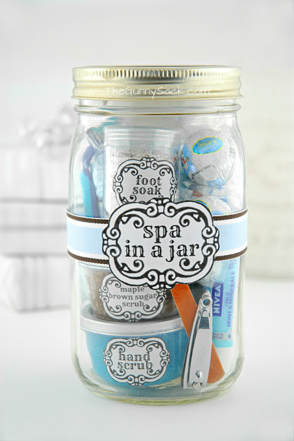 Spa in a jar homemade christmas gifts the happy housewife this spa in a jar from the gunny sack makes a nice gift for any occasion do you have a beautiful homemade christmas solutioingenieria Choice Image