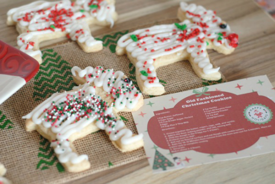 these old fashioned christmas cookies can be packaged with a free printable recipe card