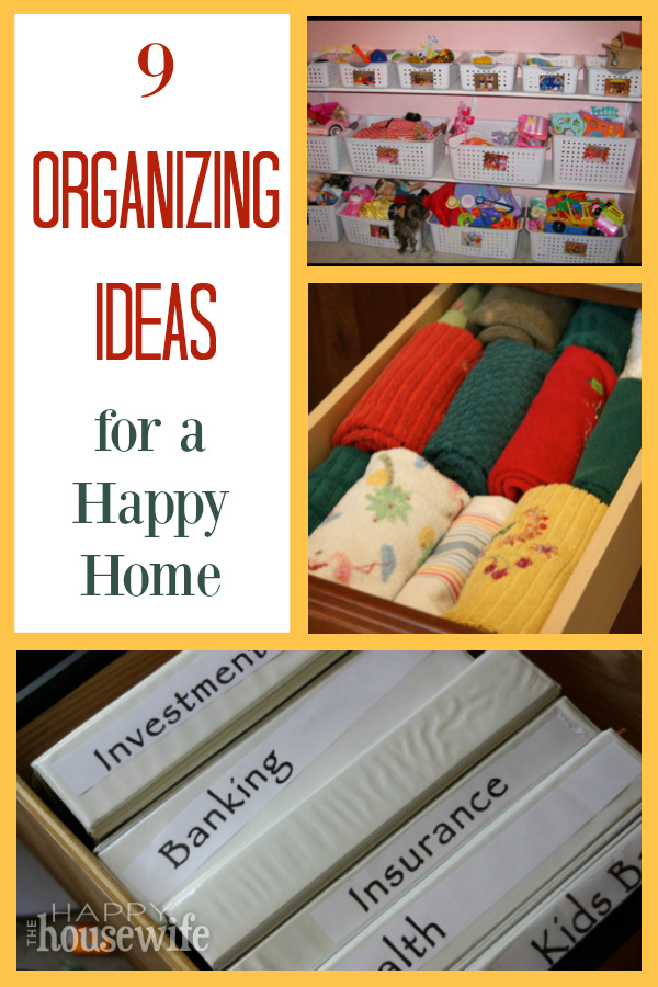 These organizing ideas from a mom of 7 will help you bring order to various areas of your home as well as keep your sanity and have a happy home.