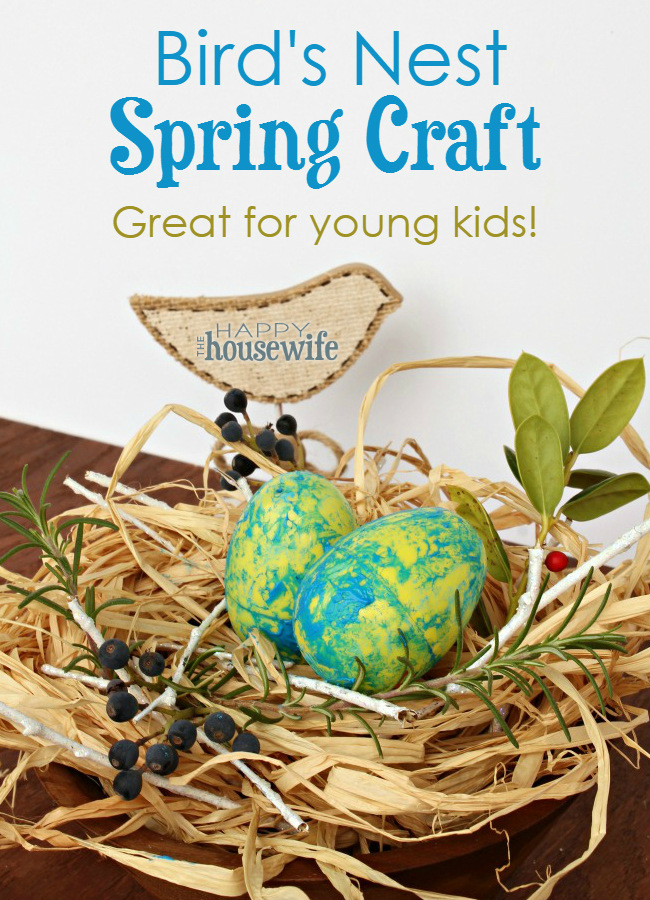 Bird S Nest Spring Craft The Happy Housewife Home Management