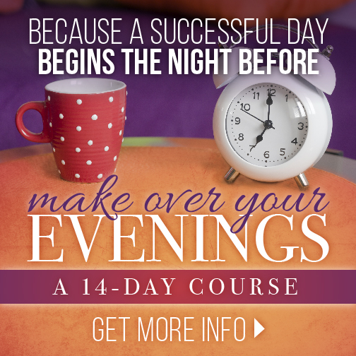Make Over Your Evenings is a brand-new 14 day course that provides a step by step system to help you to stop feeling overwhelmed, exhausted and out of energy!