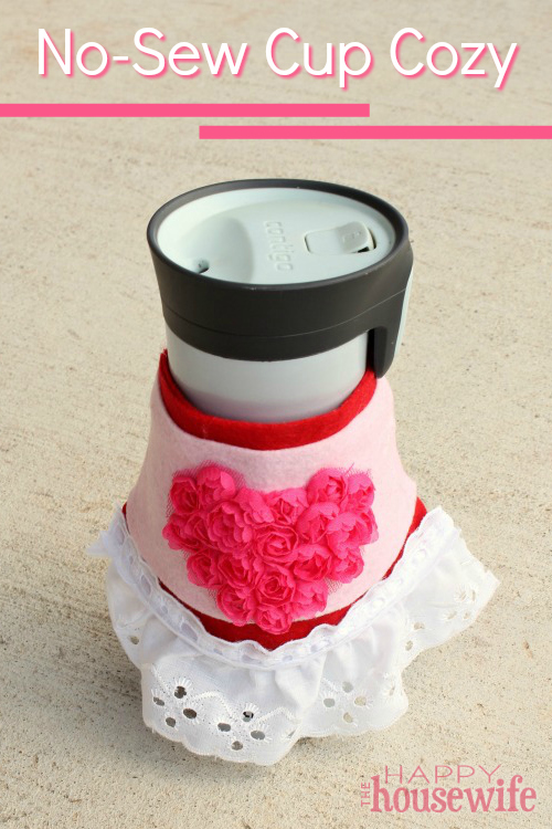 This No-Sew Homemade Cup Cozy is perfect for Mother's Day or anytime you want to let Mom know she's on your heart. She will love that you made it yourself!