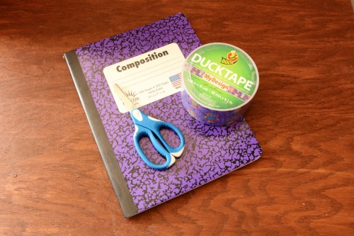 DIY Duct Tape Composition Notebook - Supplies
