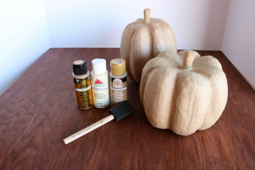 Celebrate fall with this super easy and fun to make Hand Painted Pumpkin Craft