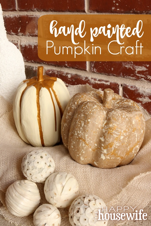 Celebrate fall with this super easy and fun to make Hand Painted Pumpkin Craft that your kids will enjoy too. It takes under 30 minutes plus drying time.