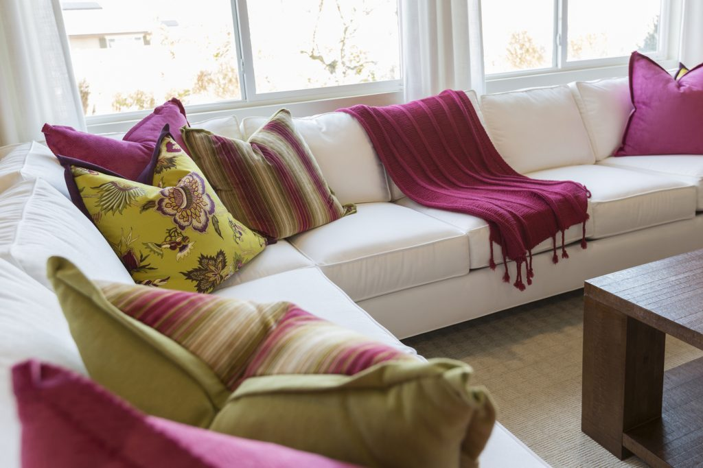 Use throw pillows to quickly update the look of any room.
