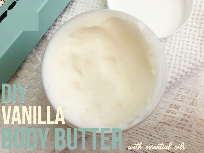 DIY Vanilla Body Butter with essential oils