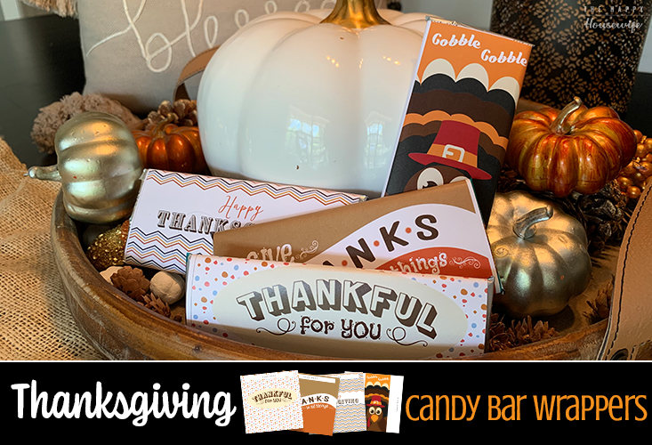 Thanksgiving candy bar wrappers