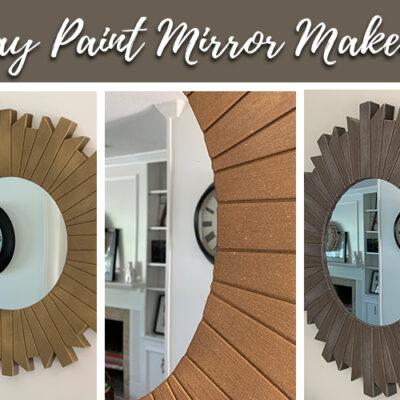 spray paint mirror makeover