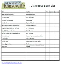 Little Boy Book List