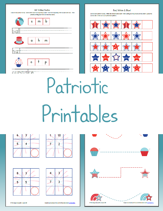 June Patriotic Themed Printables