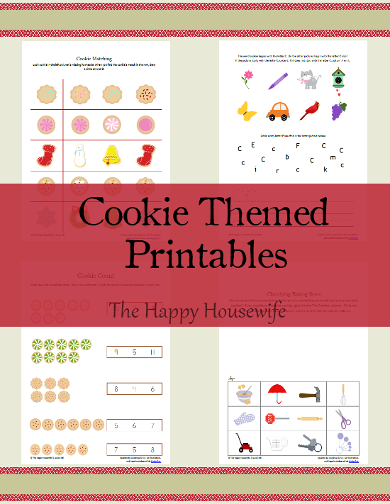 December Cookie Themed Printables 2012