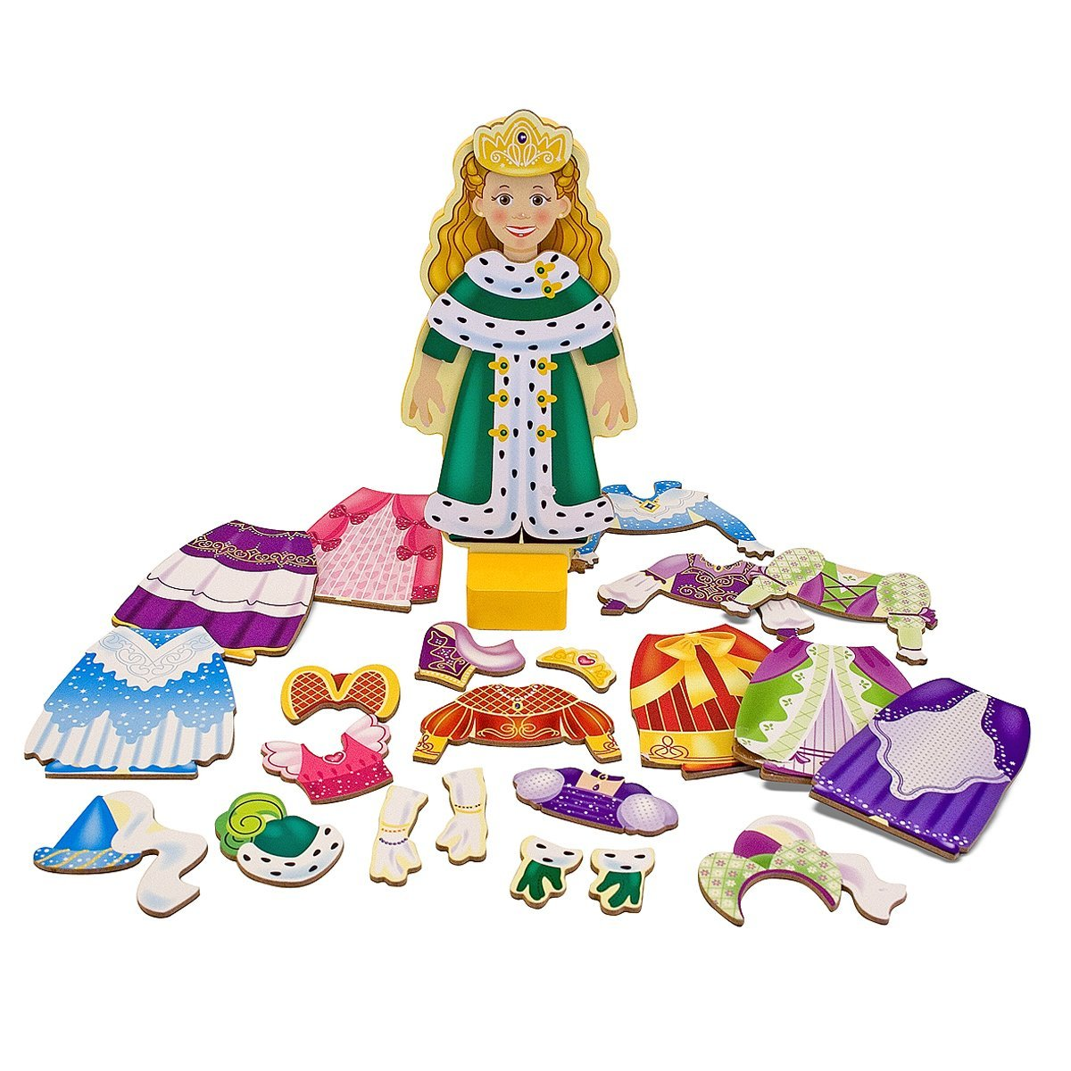 Melissa & Doug Deluxe 24-Piece Princess Elise Magnetic Dress-Up