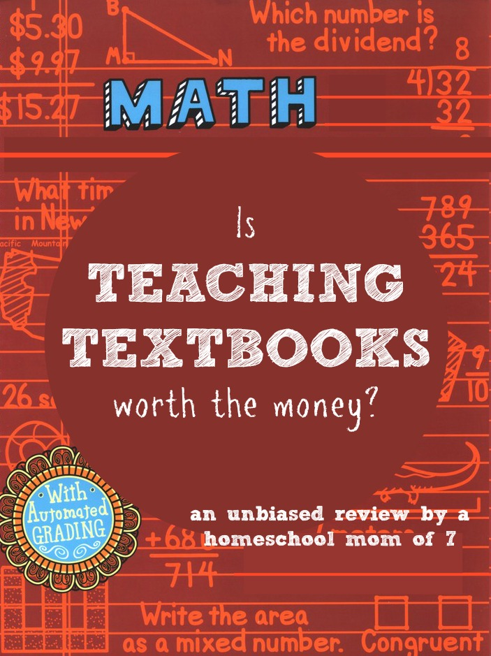 Teaching textbooks math curriculum review