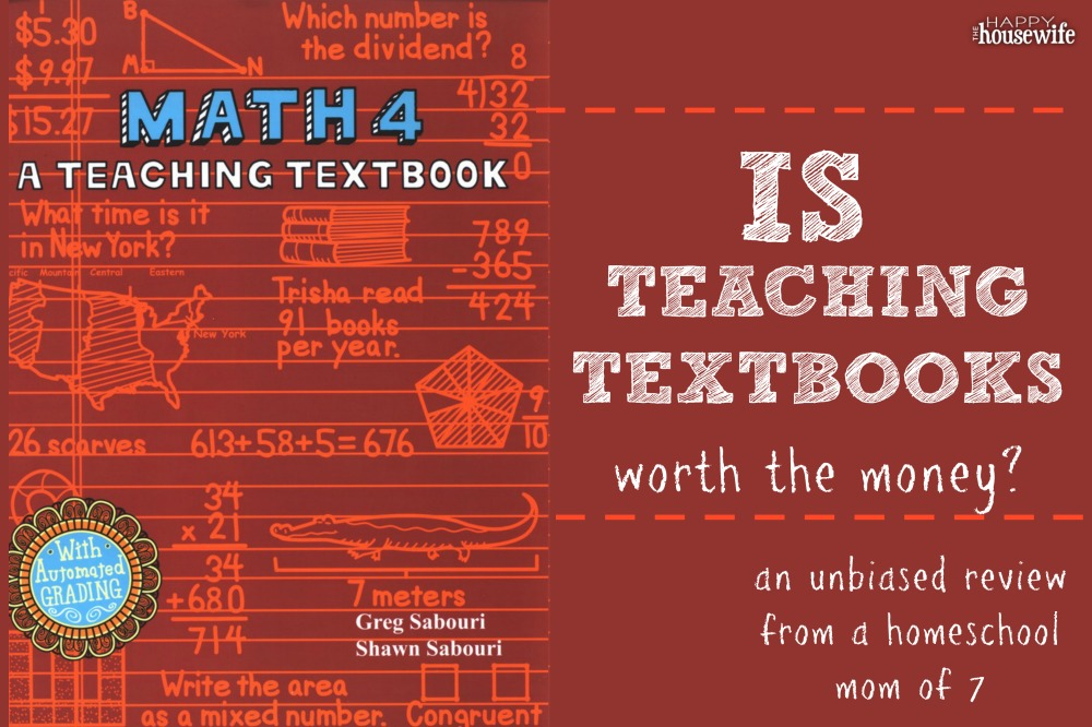 Teaching Textbooks Review - The Happy Housewife™ :: Home