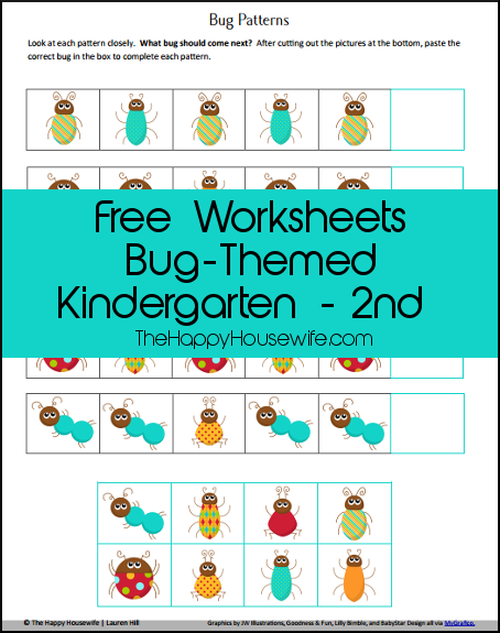 Bug Unit Study Worksheets and Printables - The Happy Housewife ...