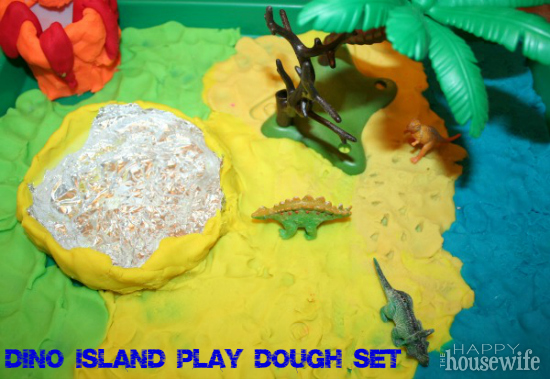 Dino Island Play Dough Set | The Happy Housewife