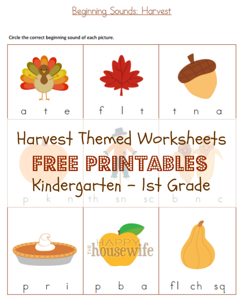 harvest themed worksheets free printables the happy housewife home schooling. Black Bedroom Furniture Sets. Home Design Ideas
