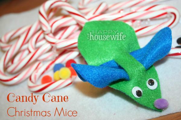 Candy Cane Christmas Mice | The Happy Housewife