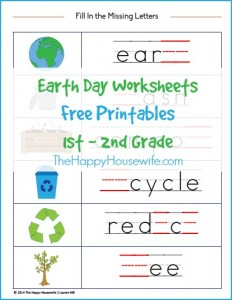 earth day worksheets free printables the happy housewife home schooling. Black Bedroom Furniture Sets. Home Design Ideas