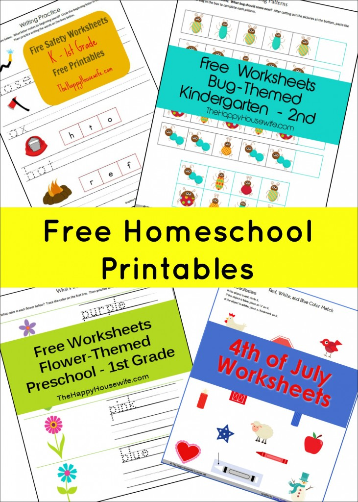Free Homeschool Printables | The Happy Housewife