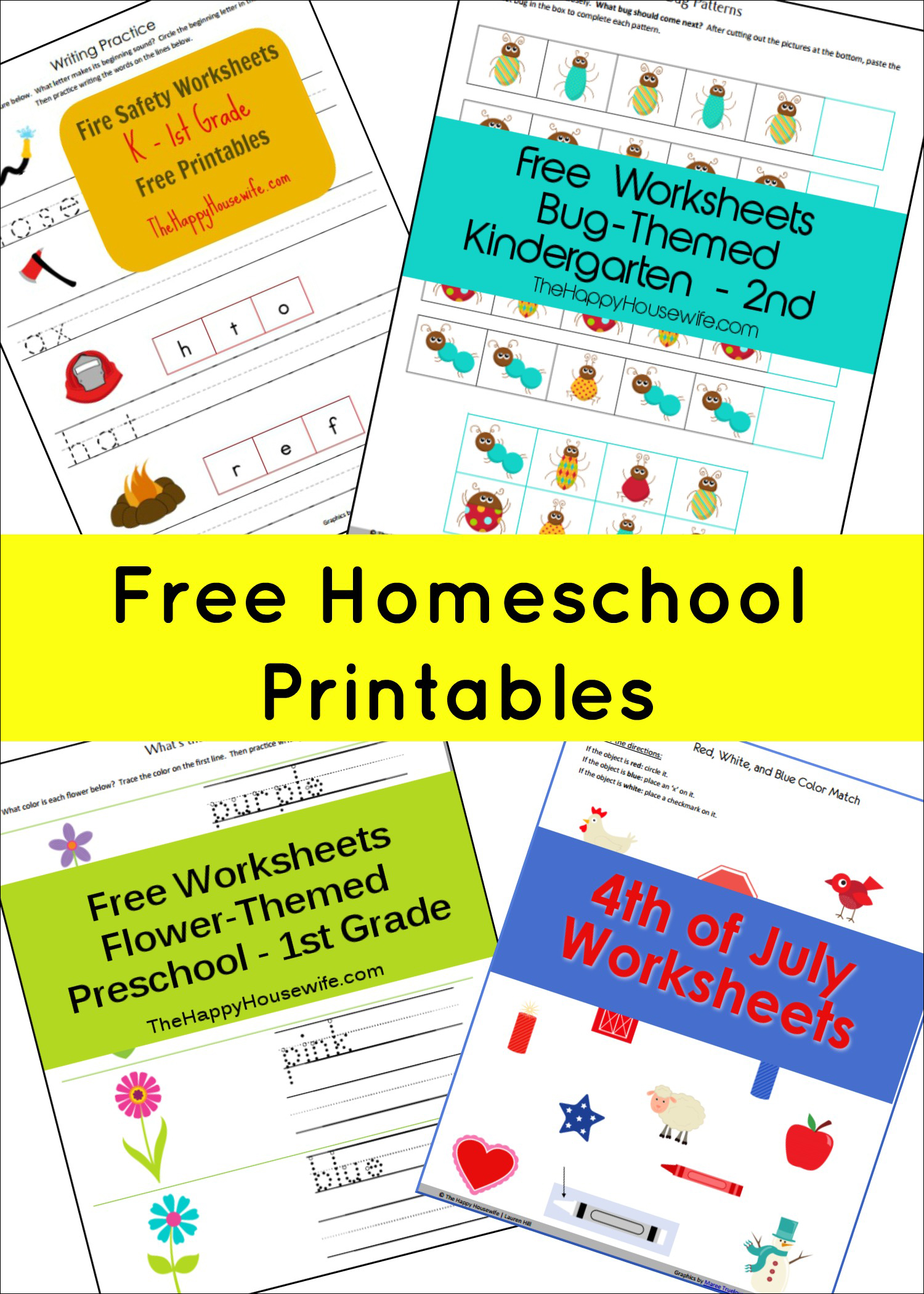 Free Homeschool Printables from The Happy Housewife