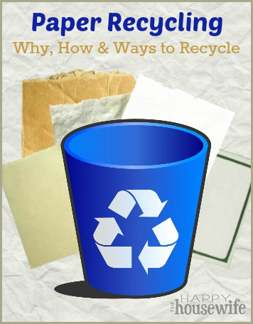 Paper Recycling: Why, How & Ways to Recycle | The Happy Housewife
