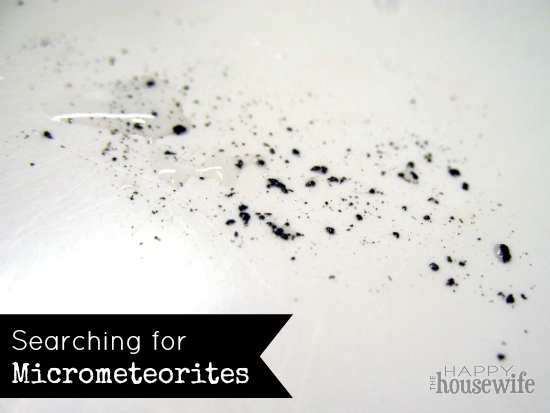 Searching for Micrometeorites | The Happy Housewife