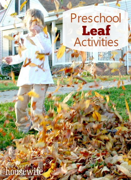 Preschool Leaf Activities at The Happy Housewife