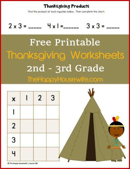 Thanksgiving Worksheets Free Printables The Happy Housewife. Free Printable Thanksgiving Worksheets For 2nd3rd Grade At The Happy Housewife. Worksheet. 3rd Grade Worksheets At Mspartners.co