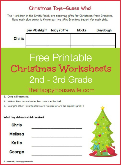 Christmas Themed Worksheets: Free Printables - The Happy Housewife ...