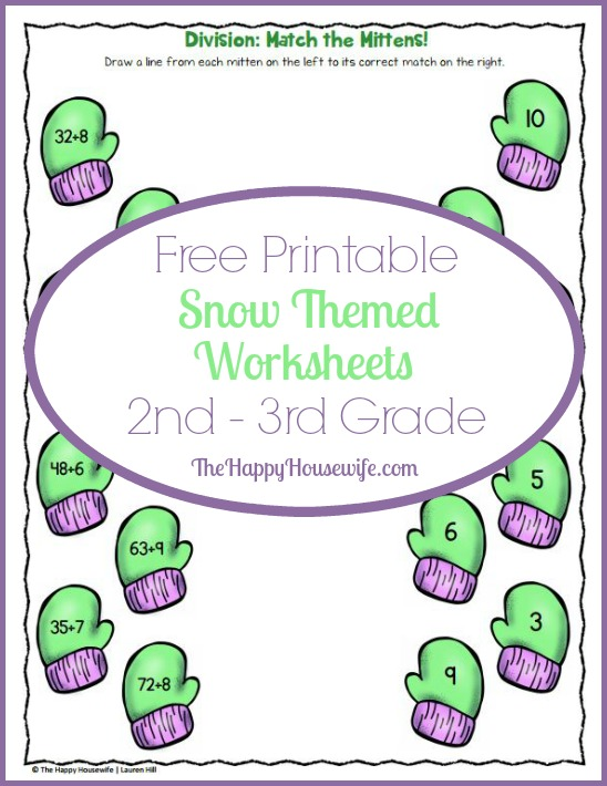 Snow Themed Worksheets Free Printables The Happy Housewife – Snow Worksheets