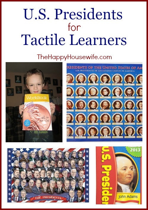 U.S. Presidents for Tactile Learners at The Happy Housewife