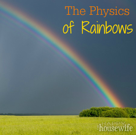 The Physics of Rainbows at The Happy Housewife