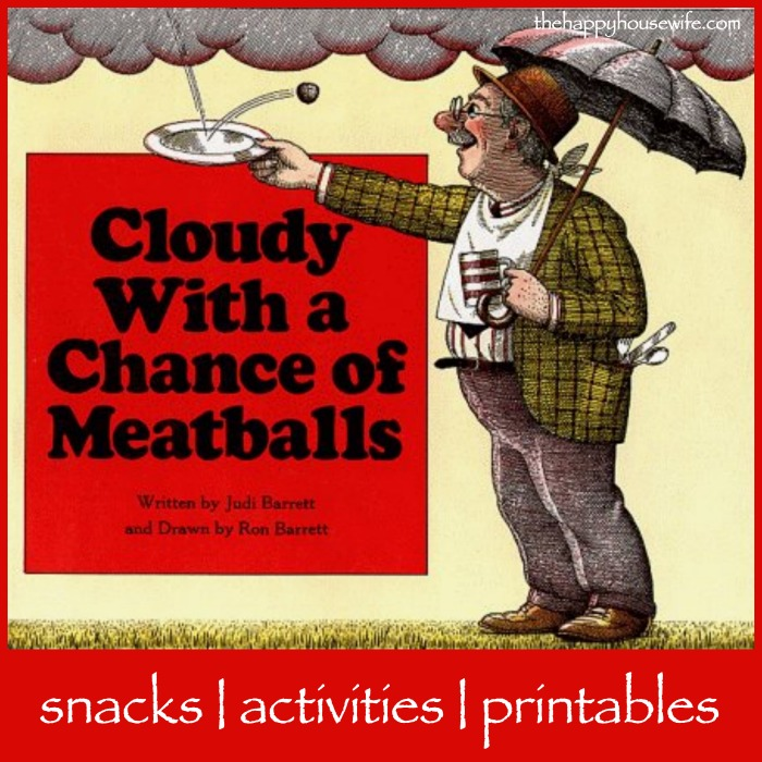 31 Days Of Read Alouds Cloudy With A Chance Of Meatballs The