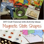 Geography Fun: Magnetic State Shapes Craft Tutorial from The Happy Housewife