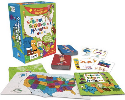 US Geography Fun: 3 Great Books and a State Shape Craft (Scrambled States of America Game) at The Happy Housewife