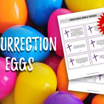 Easy resurrection eggs free printable