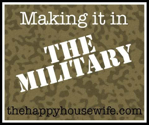 Making it in the Military ~ Military Pay at The Happy Housewife