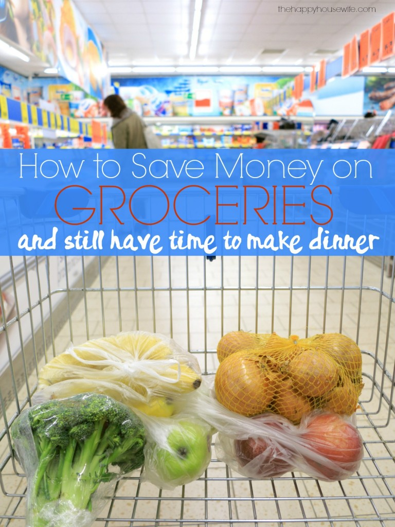 You can save money on groceries and still have time to make dinner. Saving money doesn't have to be time consuming or overwhelming there are simple ways to save on groceries every week.